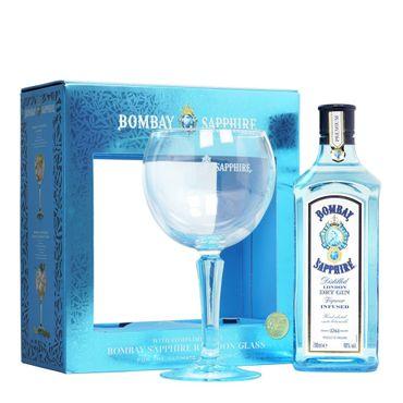 Bombay Sapphire London Dry Gin + Ginglas 0,7l, alc. 40 Vol.-%, Gin England