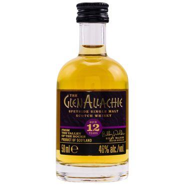 Glenallachie 12 Jahre Speyside Single Malt Scotch Whisky Miniatur 0,05l, alc. 46 Vol.-%