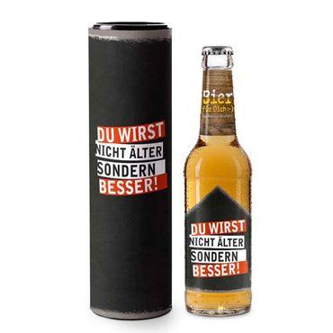 Geschenkartikel Bier für dich DU WIRST NICHT ÄLTER SONDERN BESSER, Bier 0,33l, alc. 5,2 Vol.-%