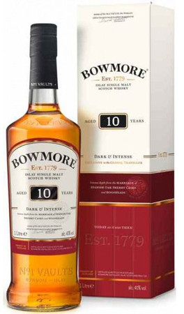 Bowmore 10 Jahre Dark and Intense Islay Single Malt Scotch Whisky 1,0l, alc. 40 Vol.-%