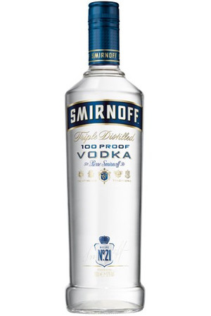 Smirnoff Blue Label 100 Proof 1,0l, alc. 50 Vol.-%, Wodka USA
