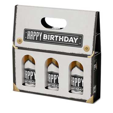 Männerkoffer Happy Birthday 3x0,33l, Bier, alc. 5,2 Vol.-%