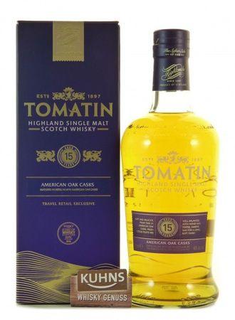Tomatin 15 Jahre Highland Single Malt Scotch Whisky 0,7l, alc. 46 Vol.-%