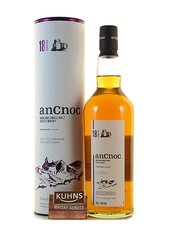 AnCnoc 18 Jahre Speyside Single Malt Scotch Whisky 0,7l, alc. 46 Vol.-%