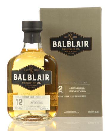 Balblair 12 Jahre Highland Single Malt Scotch Whisky 0,7l, alc. 46 Vol.-%