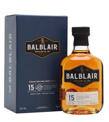 Balblair 15 Jahre Highland Single Malt Scotch Whisky 0,7l, alc. 46 Vol.-%