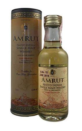 Amrut Peated Cask Strength Miniatur Indian Single Malt Whisky 0,05l, alc. 62,8 Vol.-%