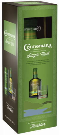 Connemara Original Peated + Tumbler Single Malt Irish Whiskey 0,7l, alc. 40 Vol.-%