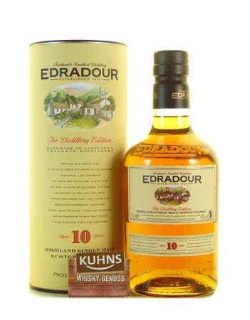 Edradour 10 Jahre Highland Single Malt Scotch Whisky 0,7l, alc. 40 Vol.-%
