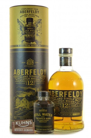 Aberfeldy 12 Jahre mit Quellwasser-Miniatur Highland Single Malt Scotch Whisky