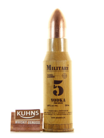 Debowa Military Vodka Miniatur 0,05l, alc. 40 Vol.-%, Wodka Polen