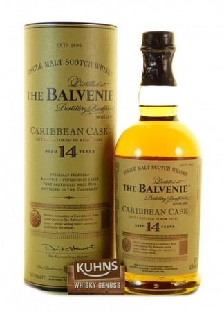 Balvenie 14 Jahre Caribbean Cask Speyside Single Malt Scotch Whisky 0,7l, 43 Vol.-%