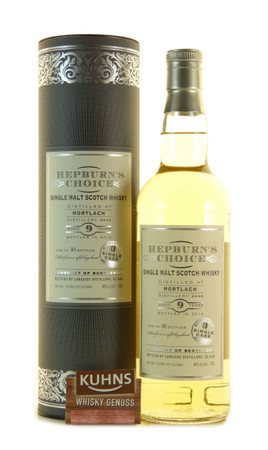 Mortlach 9 Jahre 2005-2014 Hepburn's Choice Single Malt Scotch Whisky 0,7l, 46 Vol.-%