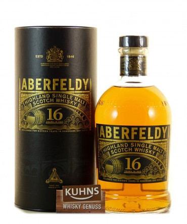 Aberfeldy 16 Jahre Highland Single Malt Scotch Whisky 0,7l, alc. 40 Vol.-%
