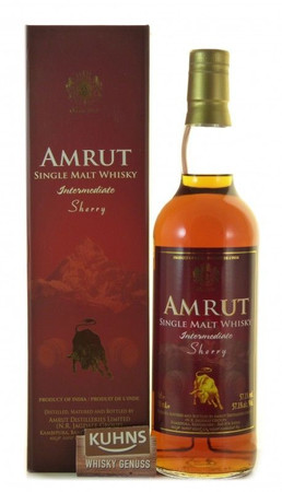 Amrut Intermediate Sherry Indian Single Malt Whisky 0,7l, alc. 57,1 Vol.-%