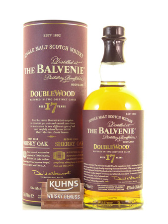 Balvenie 17 Jahre Double Wood Speyside Single Malt Scotch Whisky 0,7l, alc. 43 Vol.-%
