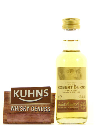 Robert Burns Single Malt Miniatur 0,05l, 43 Vol.-% Arran Single Malt Scotch Whisky