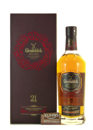 Glenfiddich 21 Jahre Gran Reserva Speyside Single Malt Scotch Whisky 0,7l, 40 Vol.-%