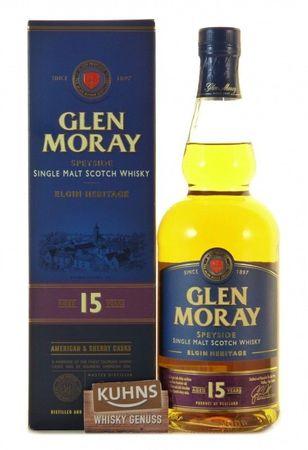 Glen Moray 15 Jahre Speyside Single Malt Scotch Whisky 0,7l, alc. 40 Vol.-%