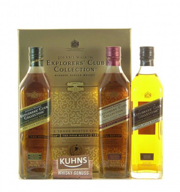 Johnnie Walker Explorers Club Collection Blended Scotch Whisky 3x 0,2l, alc. 40 Vol.-%