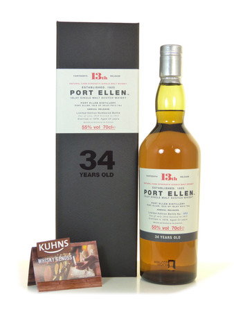 Port Ellen 34 Jahre 2013 13th. Release Single Malt Scotch Whisky 0,7l, alc. 55 Vol.-%