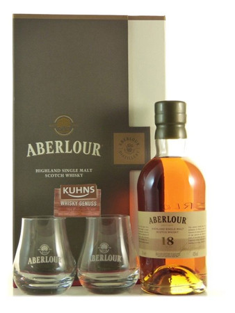 Aberlour 18 Jahre mit 2 Gläsern Speyside Single Malt Scotch Whisky 0,7l, 43 Vol.-%