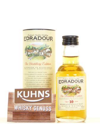 Edradour 10 Jahre Miniatur 0,05l, alc. 40 Vol.-%, Highland Single Malt Scotch Whisky