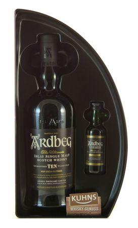Ardbeg TEN 10 Jahre Quadrant mit Uigeadail-Mini Islay Single Malt Scotch Whisky