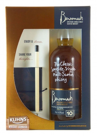 Benromach 10 Jahre Geschenkset Speyside Single Malt Scotch Whisky 0,7l, alc. 43 Vol.-%