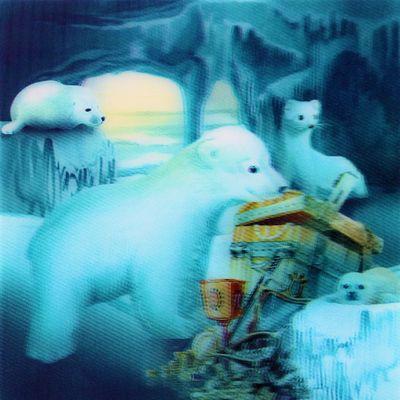 Eisbär 3D Kacheldekor Wandaufkleber – Bild 4
