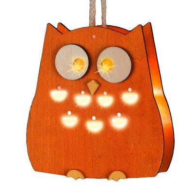 Wenko LED Eule aus Holz Weihnachtsdeko Fensterdeko Dekoration Stimmungslicht