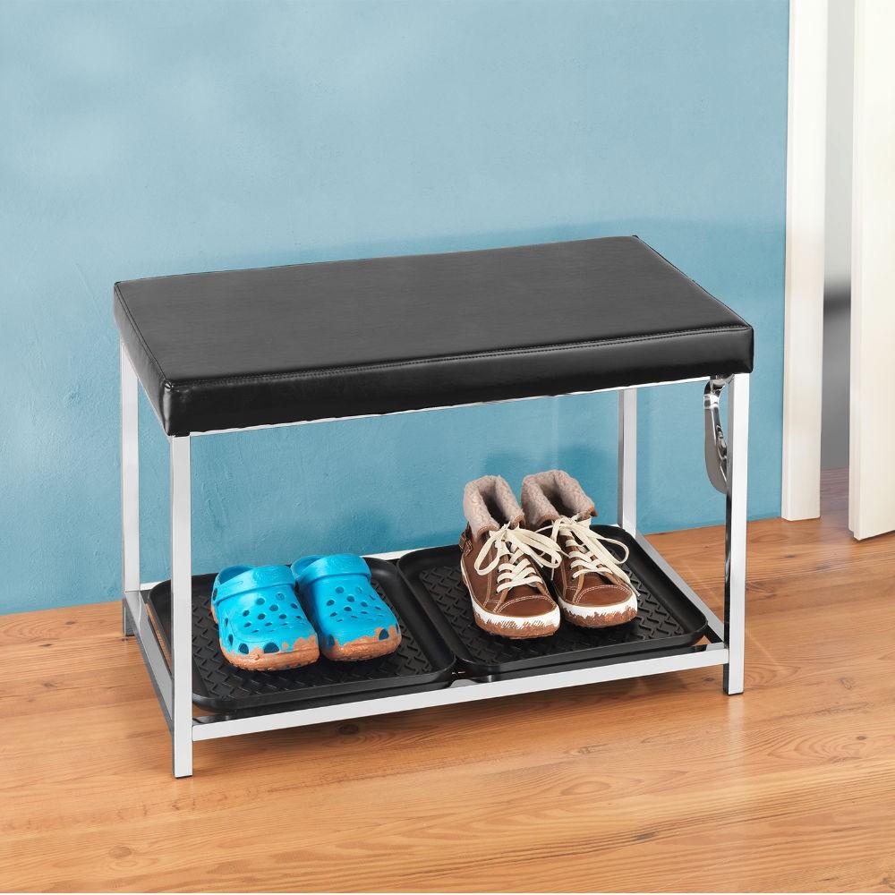 wenko schuhregal mit sitzfl che von wenkobei gegenwert kaufen. Black Bedroom Furniture Sets. Home Design Ideas