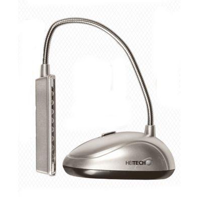 Heitech Led-Stand-/Leseleuchte 8 Leds Campinglampe Nachtleuchte inkl. Batterien  – Bild 1