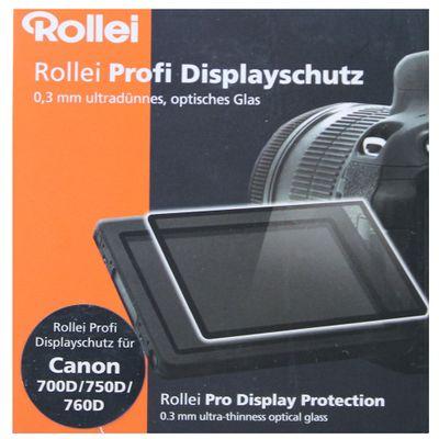 Rollei Profi Displayschutz für Canon 700D (Touchscreen, Schwenkbildschirm, kratzfest/bruchsicher/stoßfest) – Bild 2