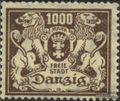 Danzig 151 postfrisch 1923 Wappen