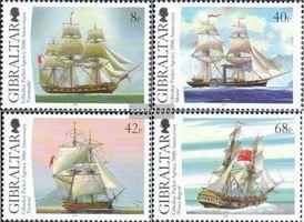 Gibraltar 1173-1176 (kompl.Ausg.) postfrisch 2006 Segelschiffe