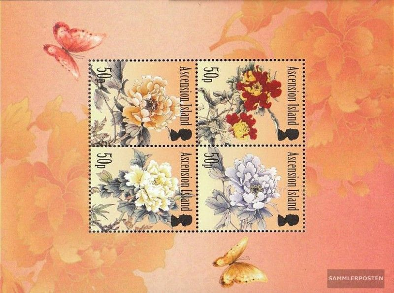 Ascension Block68 Mint Never Hinged Mnh 2011 Pfingstrosen Stamps