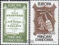 Andorra-Französische Post 360-361 (kompl.Ausg.) postfrisch 1985 Europa Musik