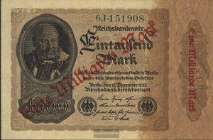 Deutsches Reich Rosenbg: 110b, Privatfirmendruck grüne Kontrollnummer, grünes FZ gebraucht (III) 1923 1 Milliarde auf 1000 Mark