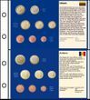 6 Stück Euro-Vordruck-Tabletts von 5 Ländern (Litauen, San Marino, Monaco, Vatikan, Andorra) und 1 Blanko-Tablett blau
