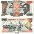 Tansania Pick-Nr: 25b bankfrisch 1993 200 Shilingi