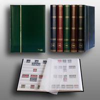 Prophila Leuchtturm 60 weiße Seiten Luxus Briefmarkenalbum Einsteckbuch grüner Einband