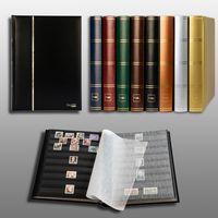 Prophila Leuchtturm 60 schwarze Seiten Briefmarkenalbum Einsteckbuch schwarzer Einband