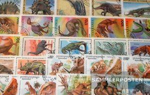 Motive 50 verschiedene Prähistorische Tiere Marken