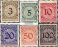 Deutsches Reich 338-343 (kompl.Ausg.) gestempelt 1923 Rentenpfennig
