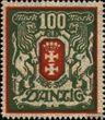 Danzig 101Y mit Durchstich, Zähnung evtl. fehlerhaft postfrisch 1922 Großes Wappen