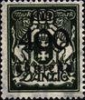 Danzig 161 postfrisch 1923 Aushilfsausgabe