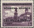 Böhmen und Mähren 17 postfrisch 1939 Aufdruckausgabe