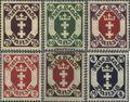 Danzig 93-98 (kompl.Ausg.) Gefälligkeitsentwertung gestempelt 1922 Freimarken