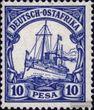 Deutsch-Ostafrika 14 postfrisch 1901 Schiff Kaiseryacht Hohenzollern